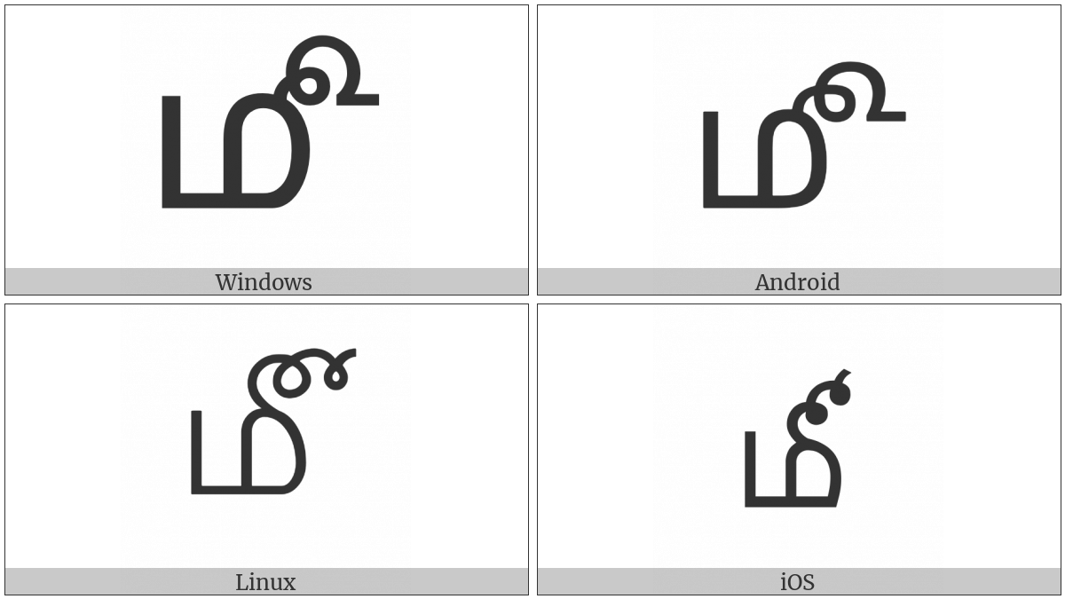 Tamil Month Sign on various operating systems