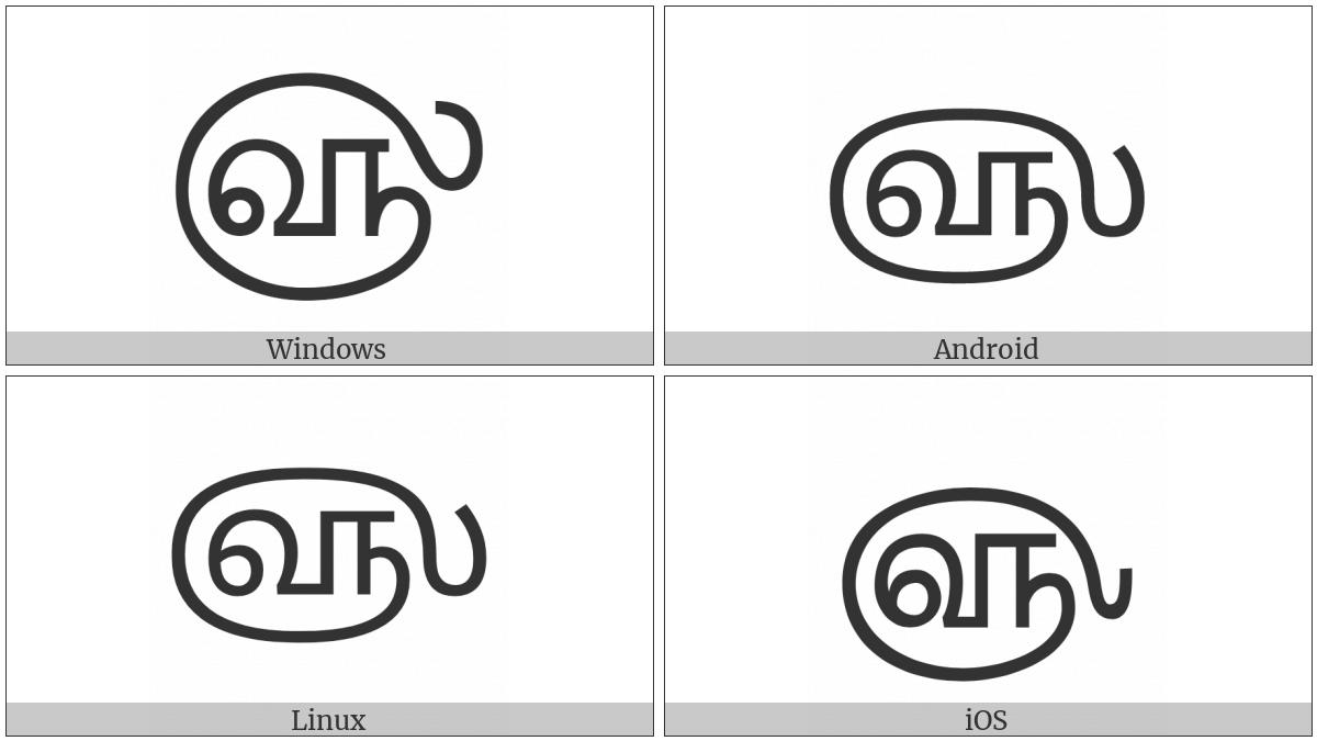 Tamil Year Sign on various operating systems