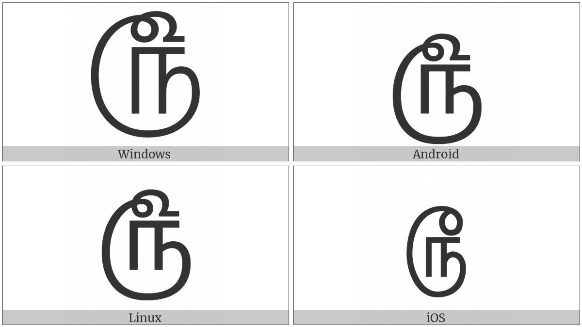 Tamil Rupee Sign on various operating systems