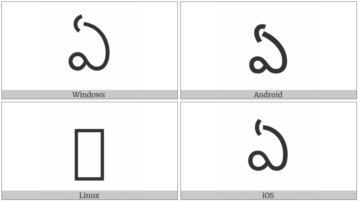 Telugu Letter Ee on various operating systems