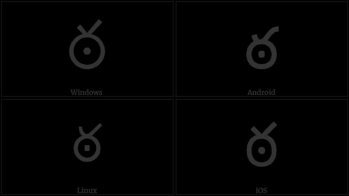 Telugu Letter Ttha on various operating systems