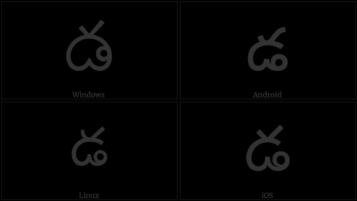 Telugu Letter Dda on various operating systems