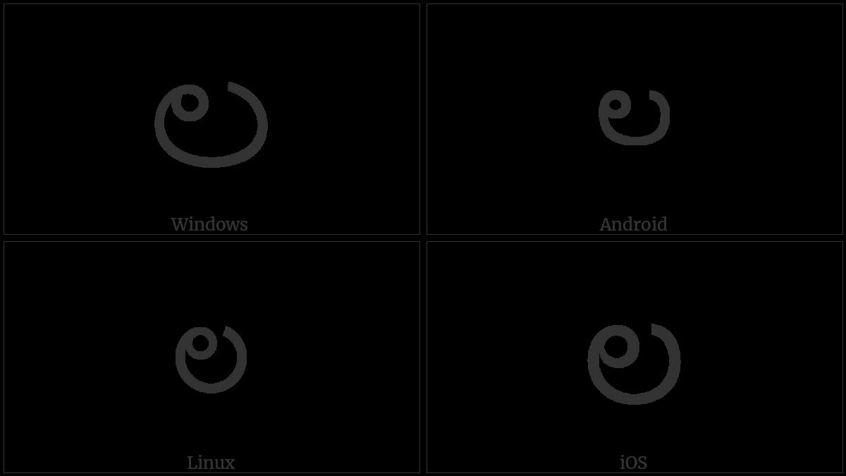Telugu Letter La on various operating systems