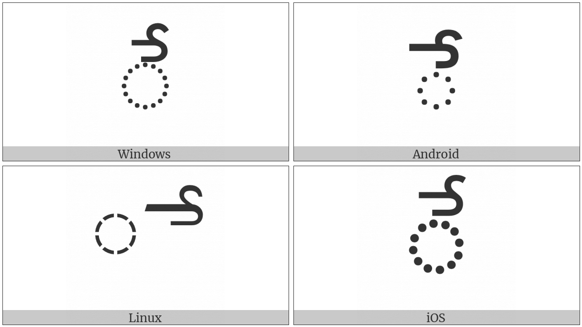 Telugu Vowel Sign Ee on various operating systems