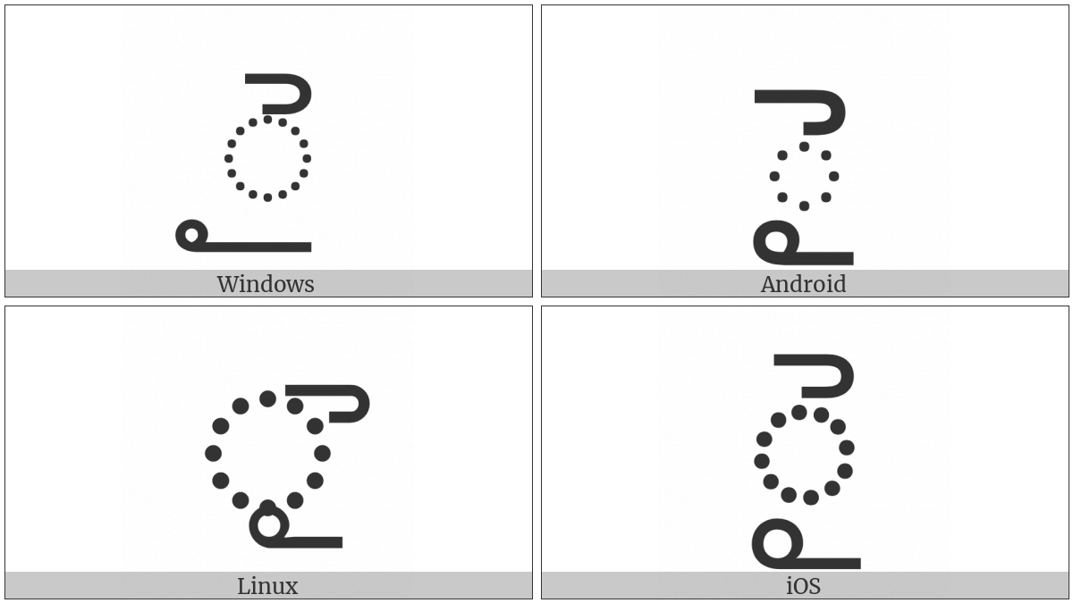 Telugu Vowel Sign Ai on various operating systems