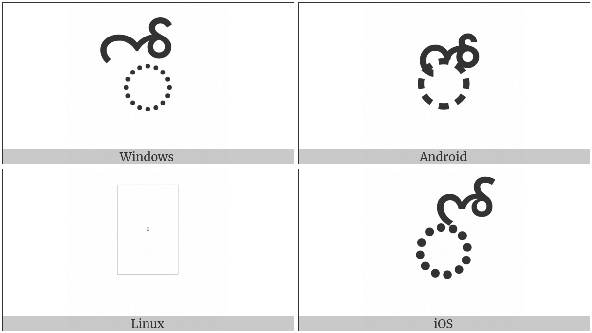 Telugu Vowel Sign Oo on various operating systems