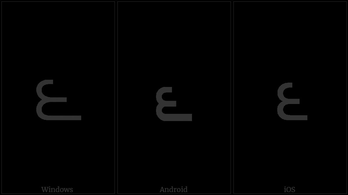 Telugu Digit Six on various operating systems