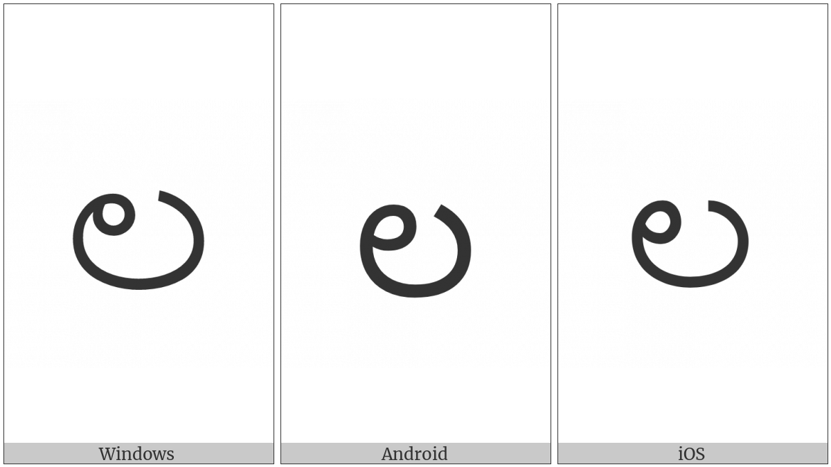 Kannada Letter La on various operating systems