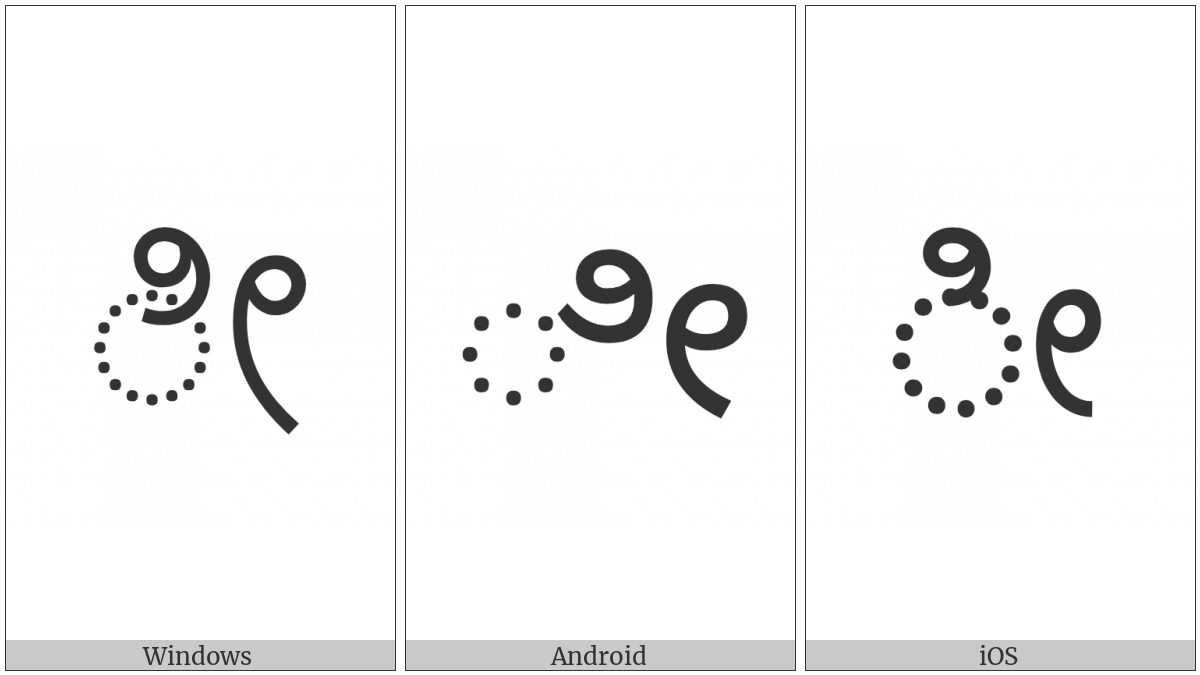 Kannada Vowel Sign Ii on various operating systems