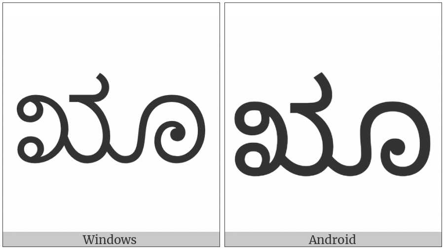 Kannada Letter Vocalic Rr on various operating systems