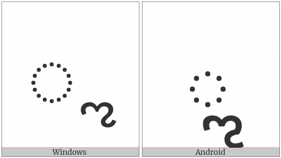Kannada Vowel Sign Vocalic L on various operating systems
