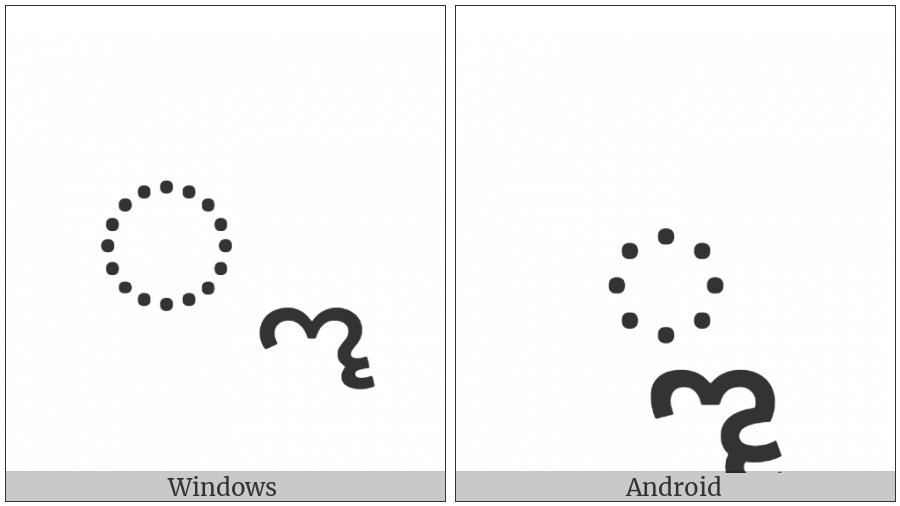 Kannada Vowel Sign Vocalic Ll on various operating systems