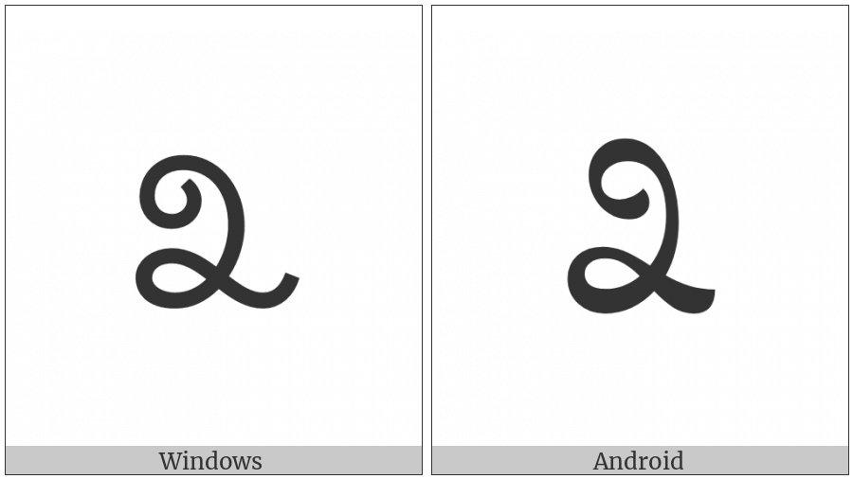 Kannada Digit Three on various operating systems