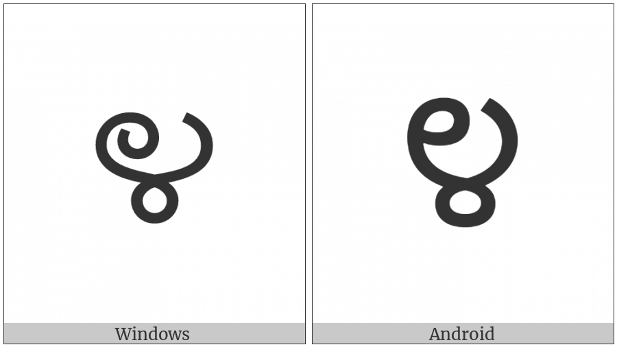 Kannada Digit Four on various operating systems