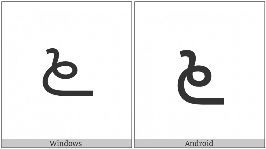Kannada Digit Six on various operating systems