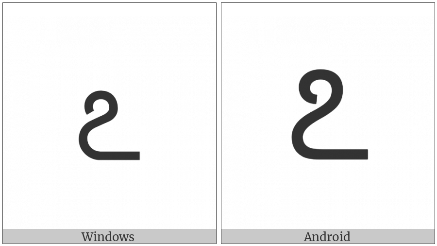 Kannada Digit Seven on various operating systems