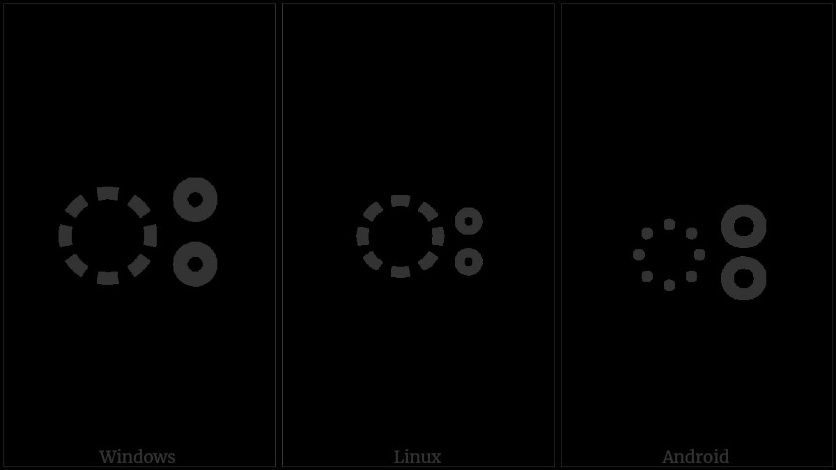 Malayalam Sign Visarga on various operating systems