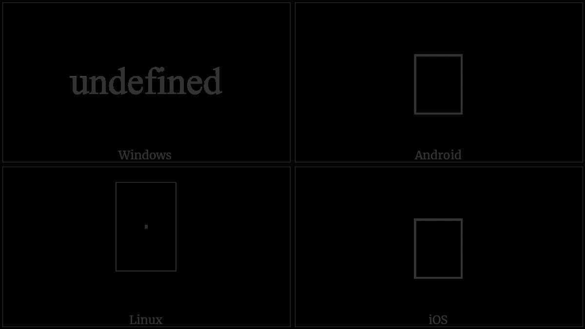 U+0D04 utf-8 character