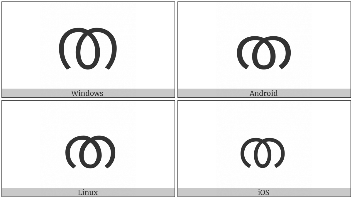 Malayalam Letter Ta on various operating systems