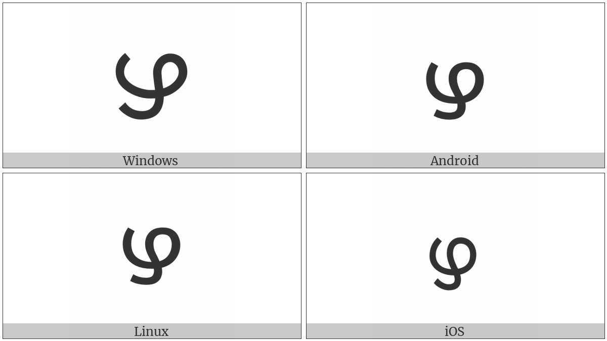 Malayalam Letter Llla on various operating systems