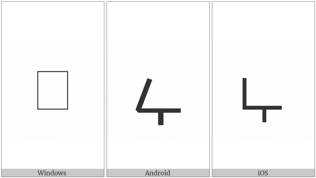 Malayalam Letter Ttta on various operating systems