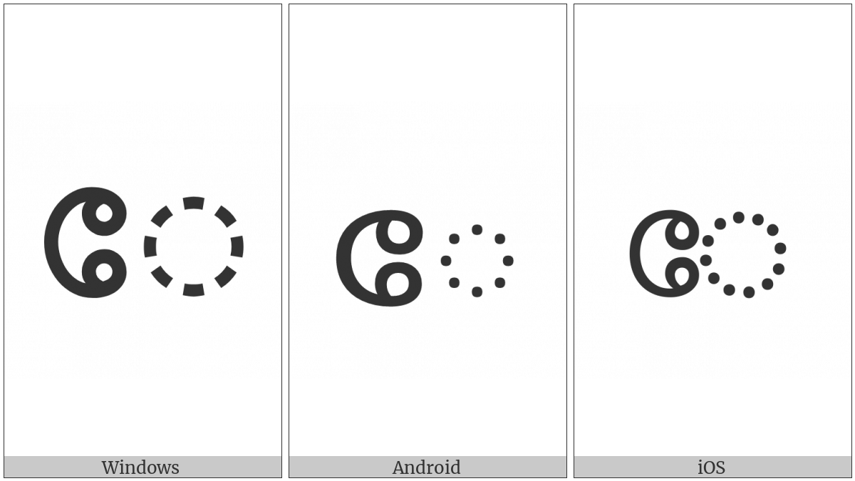 MALAYALAM VOWEL SIGN EE utf-8 character