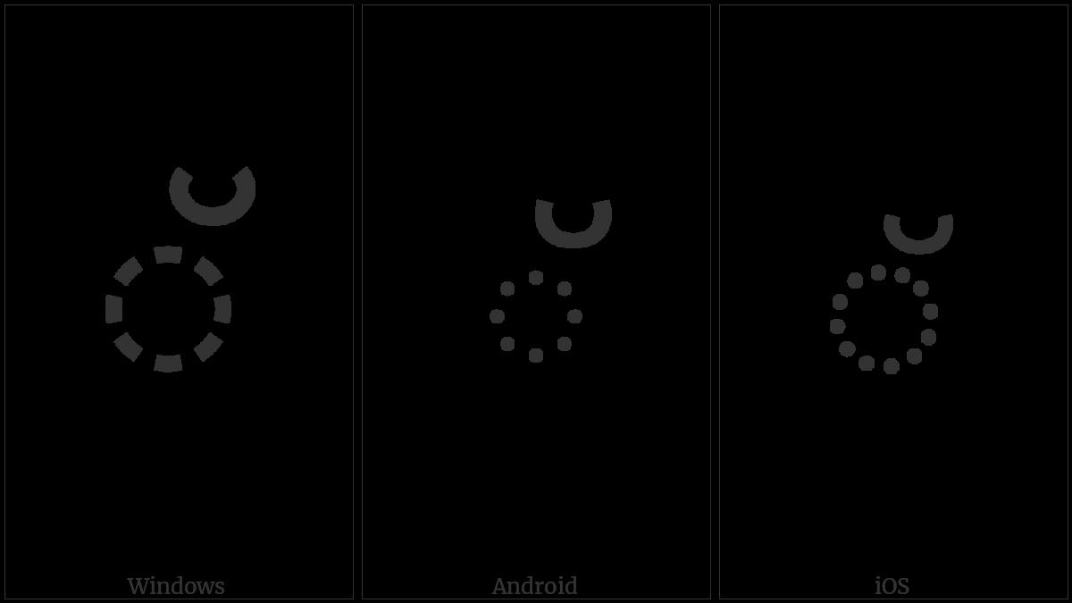 Malayalam Sign Virama on various operating systems