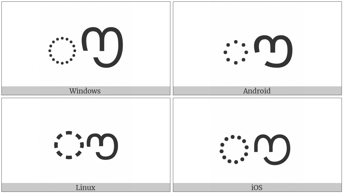 Malayalam Au Length Mark on various operating systems