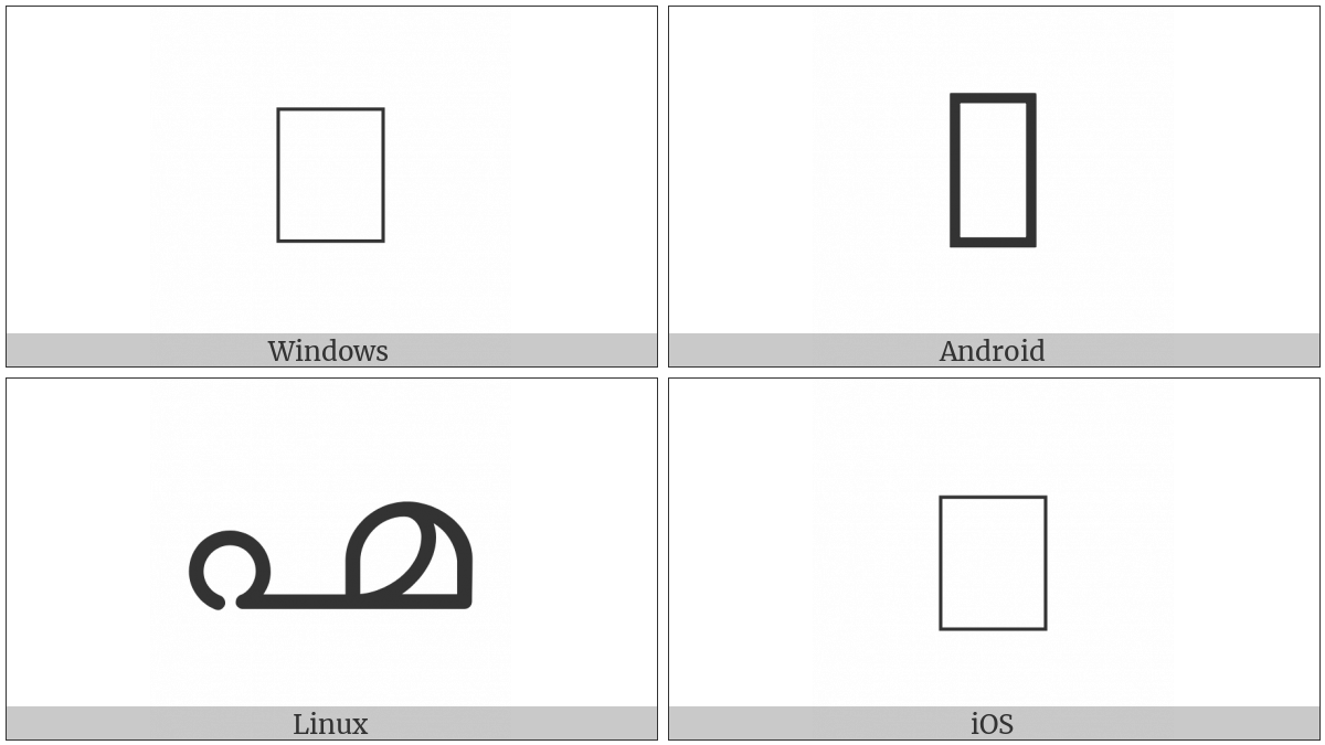 Malayalam Fraction One Sixteenth on various operating systems
