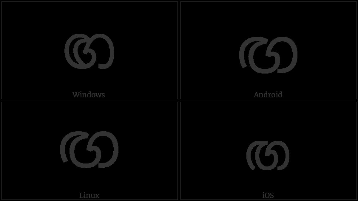 Sinhala Letter Sanyaka Gayanna on various operating systems