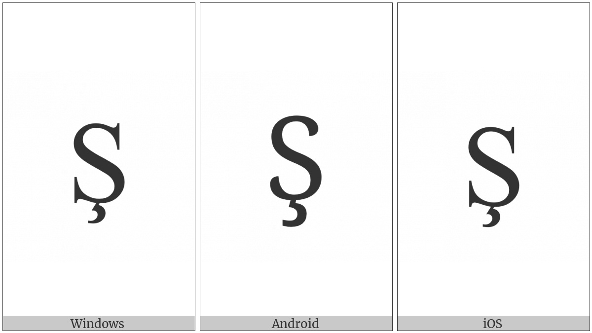 Latin Capital Letter S With Cedilla on various operating systems