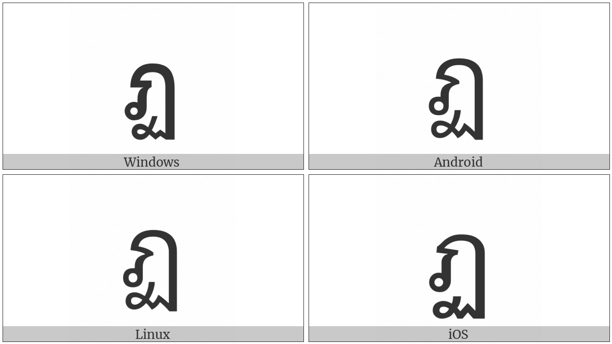 Thai Character To Patak on various operating systems
