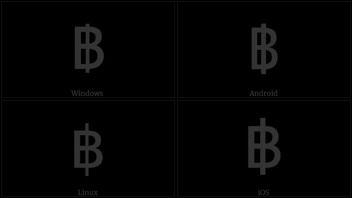 Thai Currency Symbol Baht Utf 8 Icons