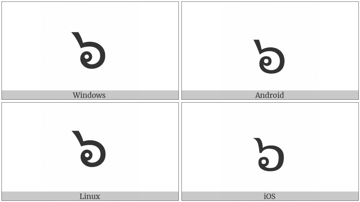 Thai Digit Six on various operating systems