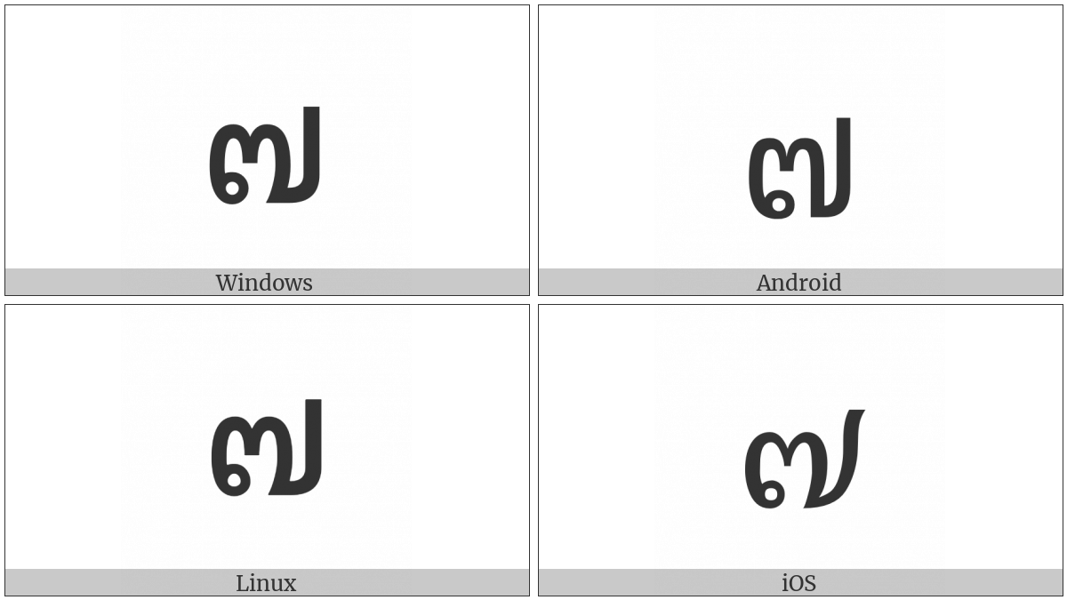 Thai Digit Seven on various operating systems