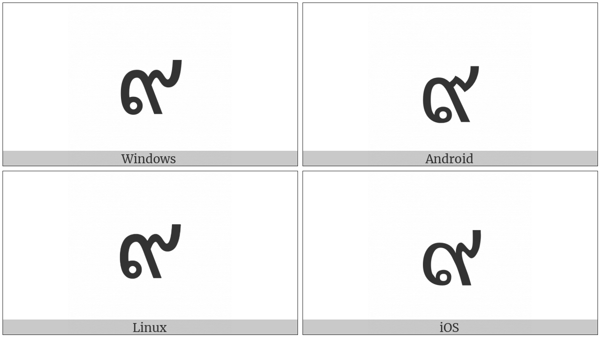 Thai Digit Nine on various operating systems