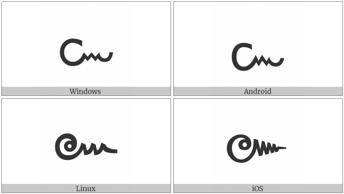 Thai Character Khomut on various operating systems