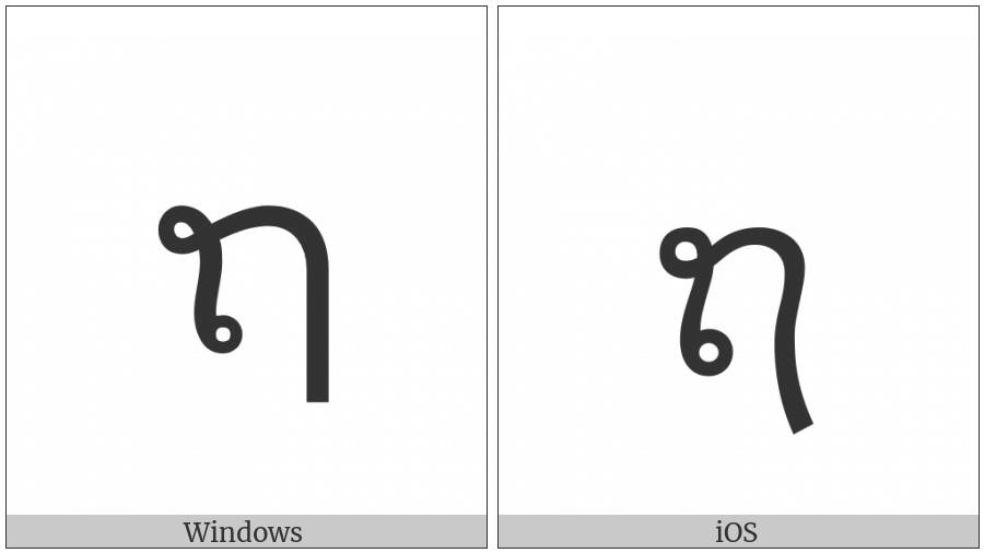 Lao Letter Tho Sung on various operating systems