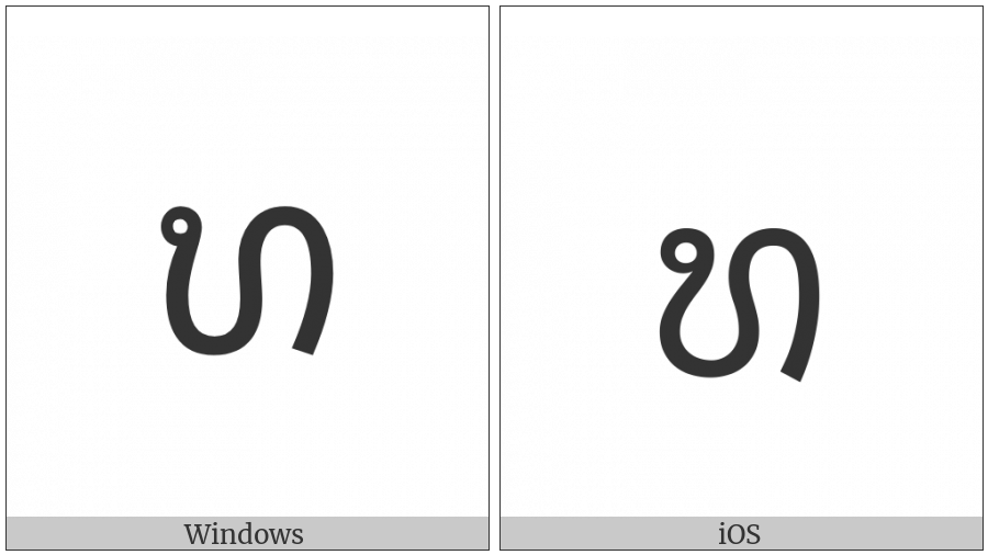 Lao Letter Tho Tam on various operating systems