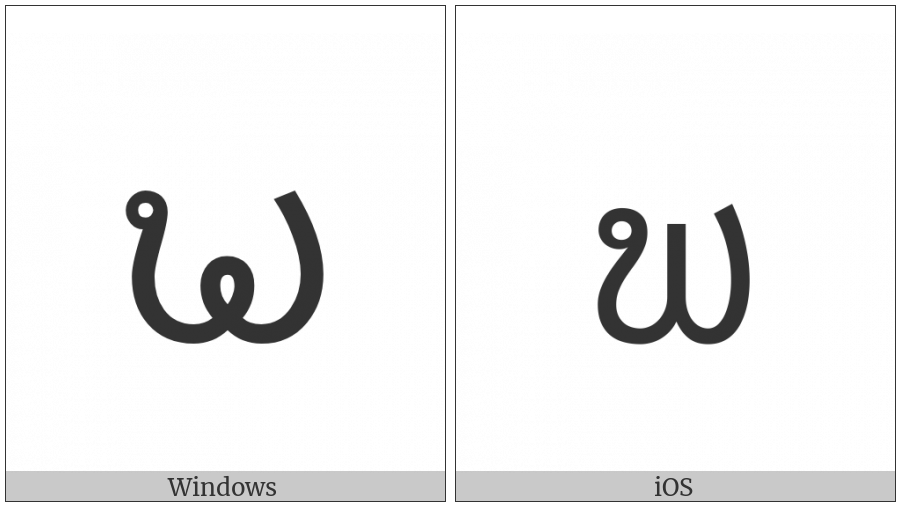 Lao Letter Pho Tam on various operating systems