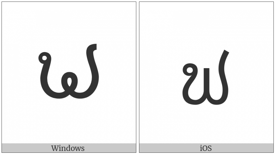 Lao Letter Fo Sung on various operating systems