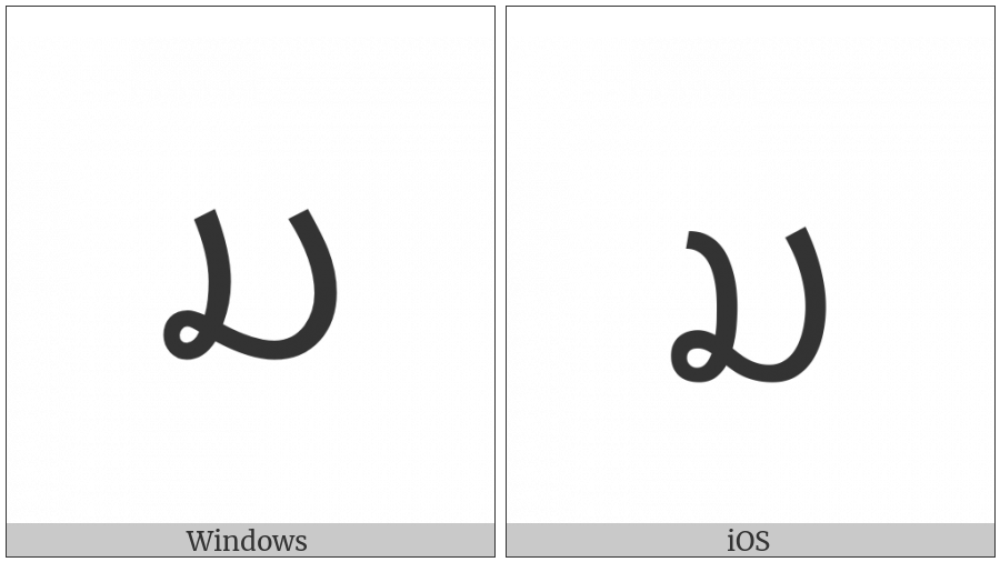 Lao Letter Mo on various operating systems