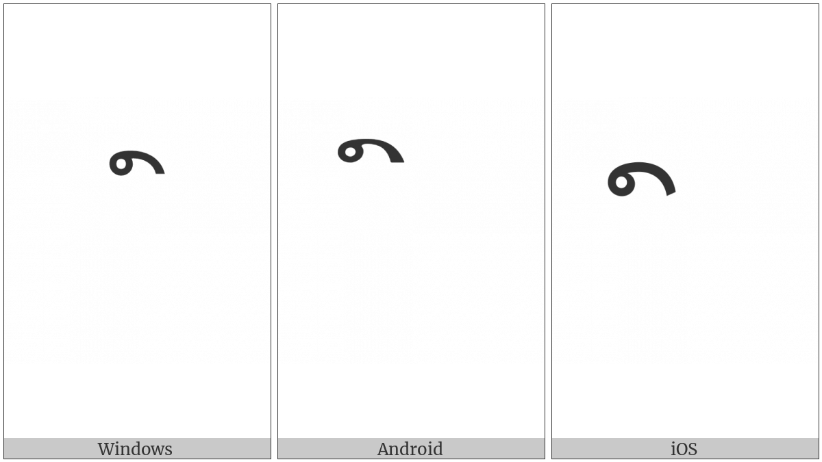 Lao Vowel Sign Mai Kon on various operating systems