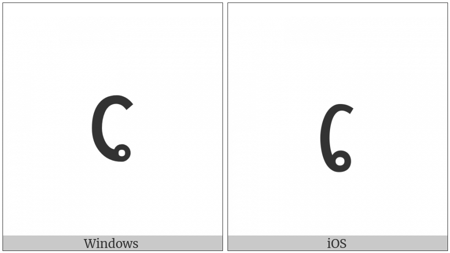 Lao Vowel Sign E on various operating systems