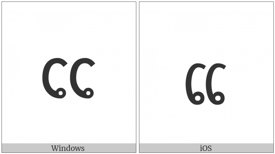 Lao Vowel Sign Ei on various operating systems
