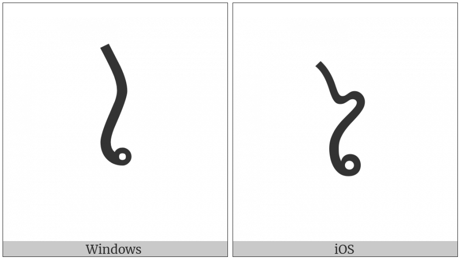 Lao Vowel Sign Ai on various operating systems