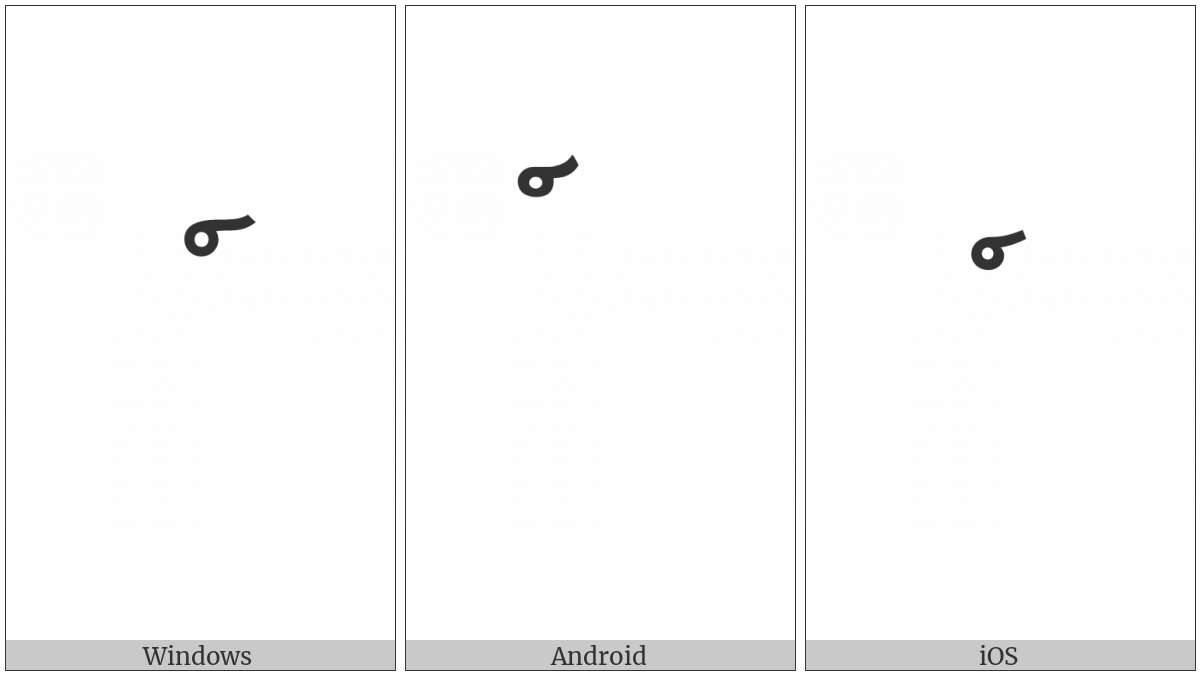 Lao Cancellation Mark on various operating systems