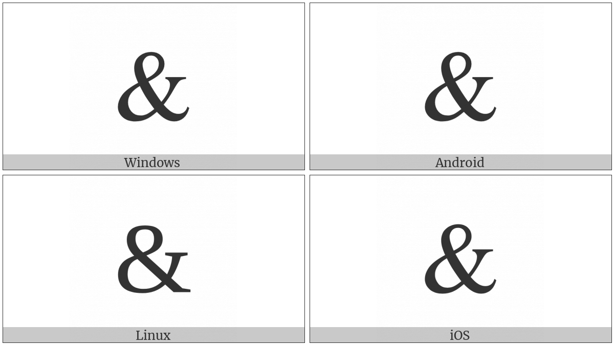 Ampersand Utf 8 Icons