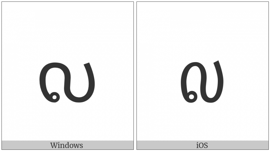 Lao Digit Nine on various operating systems