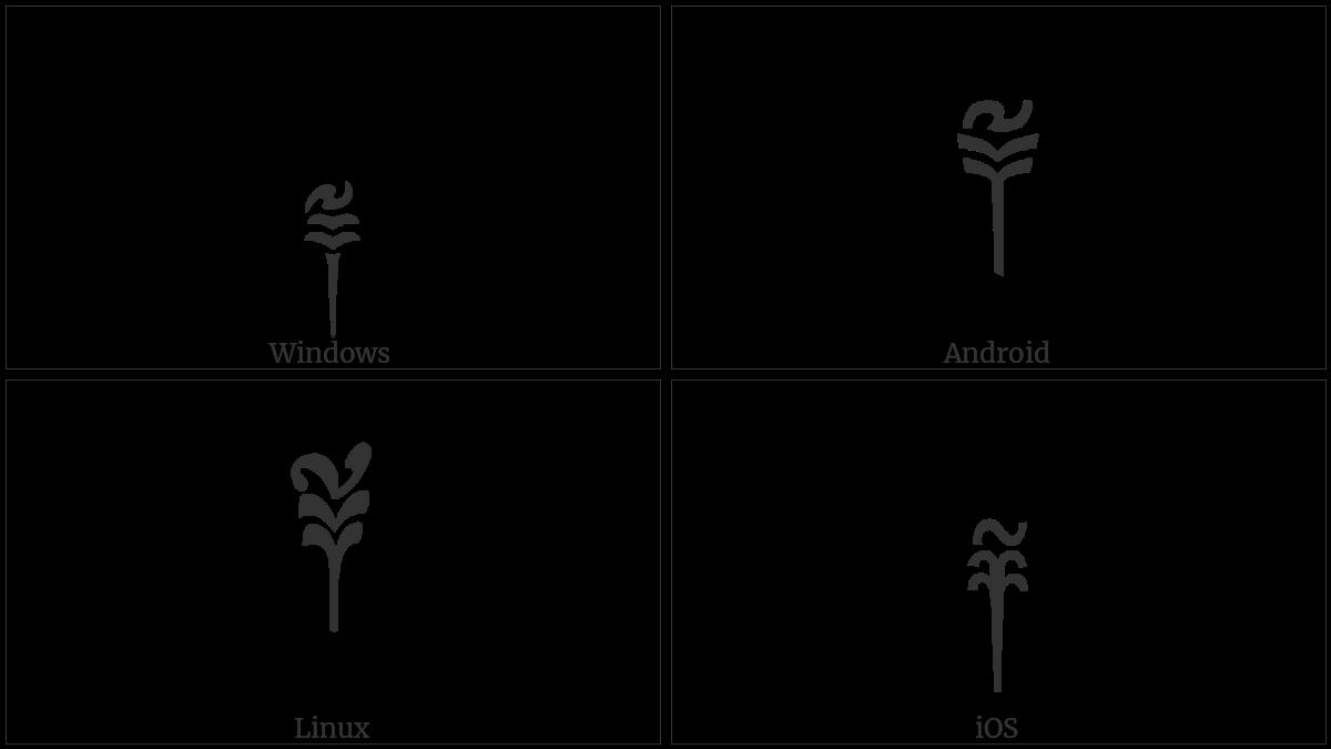 Tibetan Mark Sbrul Shad on various operating systems